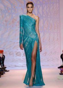 Сексуальное вечернее платье с разрезом на одно плечо от Зухаира Мурада