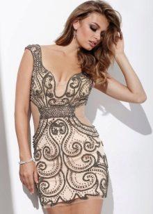 Короткое вечернее платье сексуальное с глубоким декольте