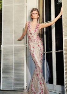 Сексуальное платье русалка в стиле нюд