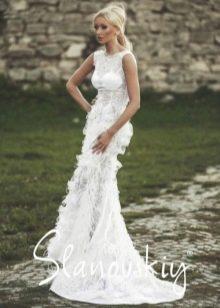 Свадебное платье от Слановски приталенное