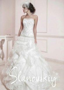 Свадебное платье со стразами Сваровски