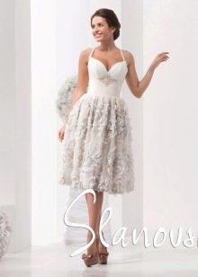 Короткое свадебное платье от Слановски