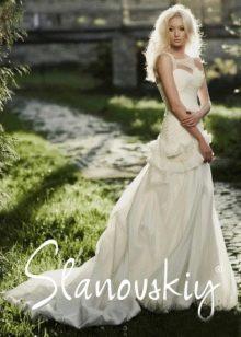 Свадебное платье с корсетом от Слановски