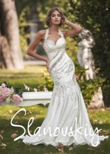 Свадебное платье русалка от Слановски