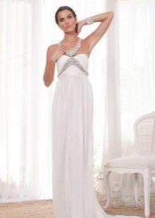 Свадебное платье с бретелями из страз