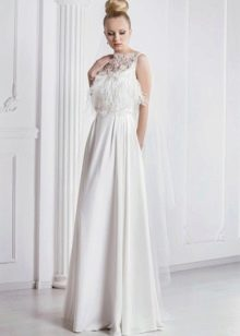 Свадебное платье от Оксаны Мухи с перьями