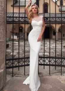 Свадебное платье от Оксаны Мухи облегающее