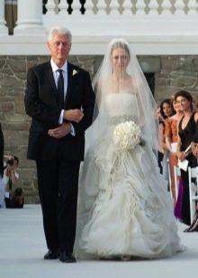Свадебное платье Челси Клинтон от Веры Вонг