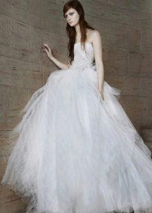 Свадебное платье 2015 от Веры Вонг пышное из фатина