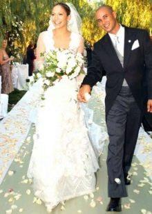 Свадебное платье Дженифер Лопес от Веры Вонг