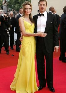 Вечернее платье желтое