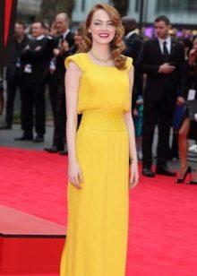 Вечернее платье желтое красивое