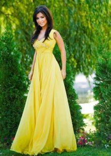 Вечернее платье желтое Ани Лорак