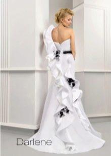 Свадебное платье от Ange Etoiles бело-черное