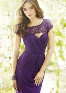 Платье цвета баклажан