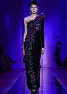 Вечернее бархатное платье от Армани
