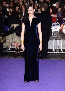 Прямое вечернее платье Евы Грин