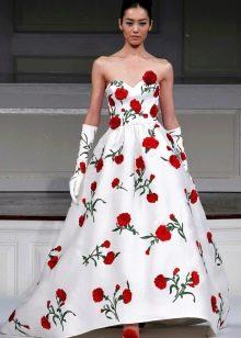 Свадебные платья бело с красным фото