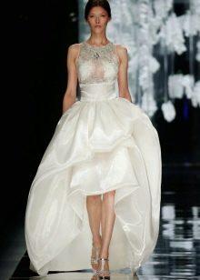 Свадебное платье короткое спереди длинное сзади от Йолана Криса