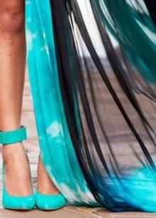 Бирюзовые туфли к бирюзовому платью