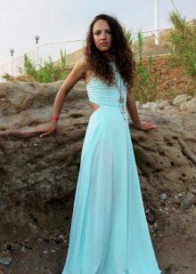Нежное светлое бирюзовое платье