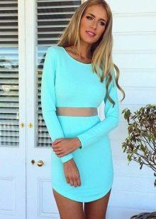Бирюзовое платье для блондинки