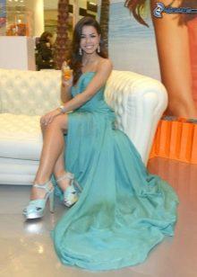 Туфли к платью бирюзового цвета