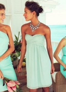 Оттенки бирюзового цвета в платьях