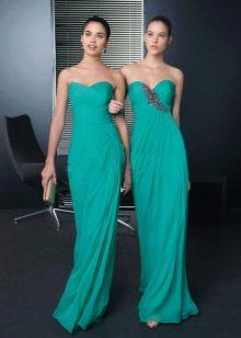 Темный оттенок бирюзовых платьев