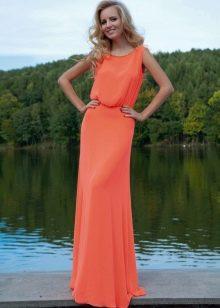 Прямое вечернее платье от Оксаны Мухи