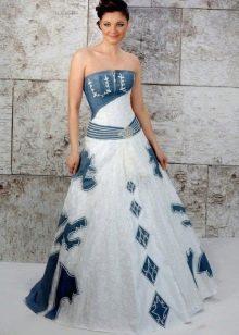 Свадебное платье из светлого джинса