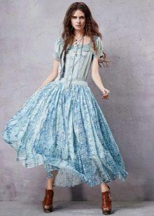 Платье с верхом из джинса