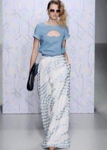 Платье с джинсовым верхом