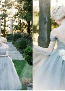 Темно-голубое платье