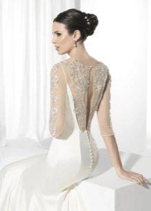 Свадебное платье от Franc Sarabia с кружевной спиной