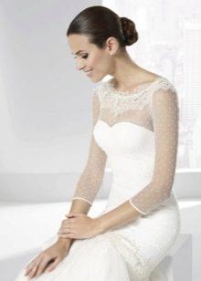 Свадебное платье от Franc Sarabia с кружевным верхом