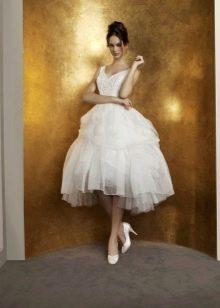 Свадебное платье от Антониа Рива короткое пышное