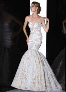Свадебное платье русалка с пышным хвостом