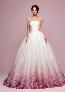 Свадебное платье пышное цветное