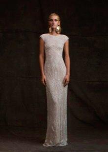 Прямое закрытое свадебное платье