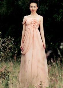 Коралловое платье Бледно-персикового оттенка