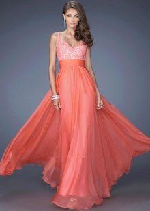 платье кораллового цвета фото