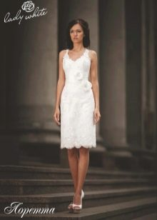 Свадебное платье из коллекции Enigma от Lady White короткое футляр