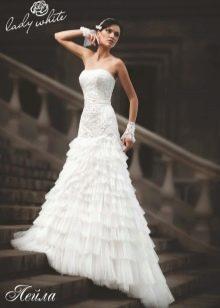 Свадебное платье из коллекции Enigma от Lady White а-силуэта