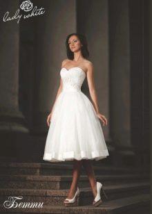 Свадебное платье из коллекции Enigma от Lady White короткое пышное