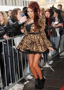 Леопардовый принт на мини платье