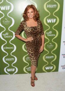 Платье-футляр с леопардовым принтом