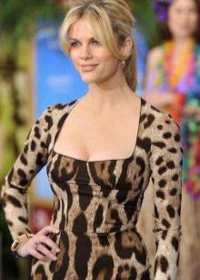 Естественный маникюр к леопардовому платью