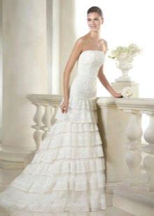 Свадебное платье от Сан Патрик с оборками русалка