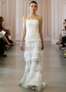 Свадебное платье от Оскар де ла Рента в цыганском стиле
